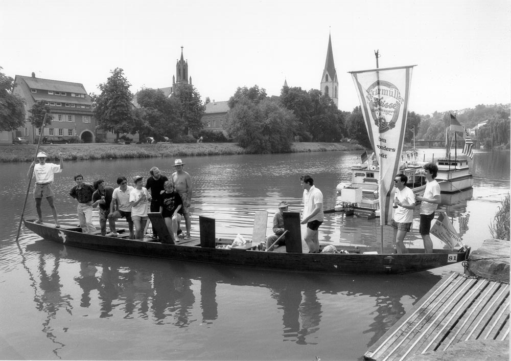 Stocherkahn Tübingen. Expedition Rottenburg 1994